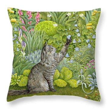 Bell Ringing Throw Pillow by Ditz