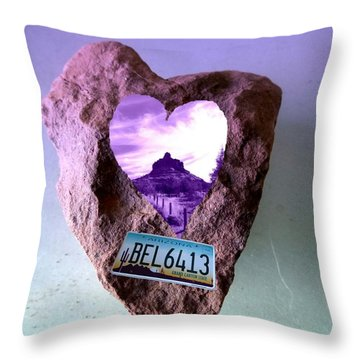 Bell Rock 6413 Serendipity Throw Pillow by Marlene Rose Besso
