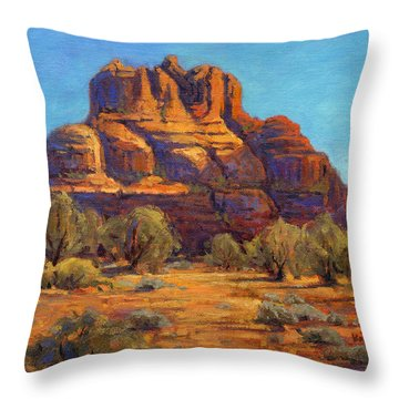 Bell Rock, Sedona Arizona Throw Pillow