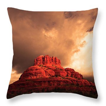 Bell Rock Throw Pillow by Tom Kelly