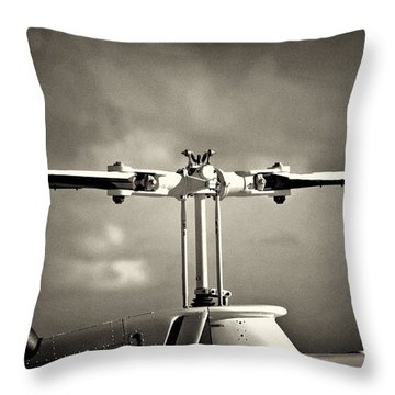 Bell Rotor Throw Pillow by Patrick M Lynch