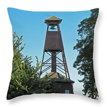 Bell Tower In Port Townsend  Throw Pillow by Connie Fox