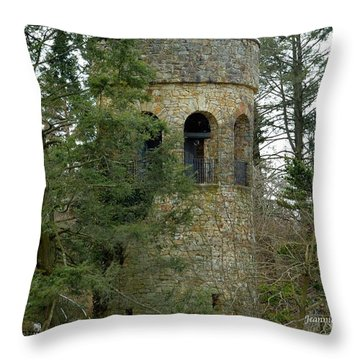 Throw Pillow featuring the digital art Bell Tower by Jeannie Rhode