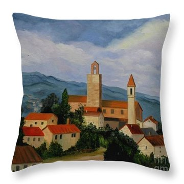 Bell Tower Of Vinci Throw Pillow