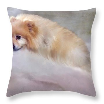 Bella Boo Throw Pillow by Colleen Taylor