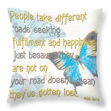 Bella Butterflies 2 Throw Pillow by Debbie DeWitt