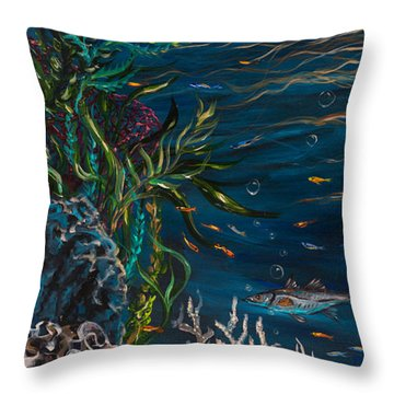Bella Donna Left Throw Pillow by Linda Olsen