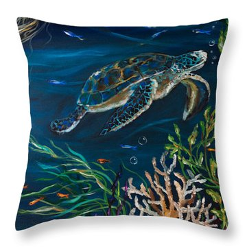 Bella Donna Right Throw Pillow by Linda Olsen