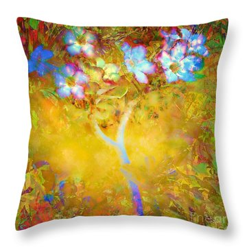 Bella Flora-tropicala Throw Pillow