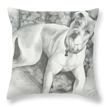 Bella My Pup Throw Pillow by Joette Snyder