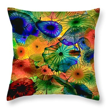 Bellagio Flowers Throw Pillow
