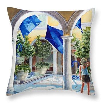 Bellagio Kite Flight Throw Pillow