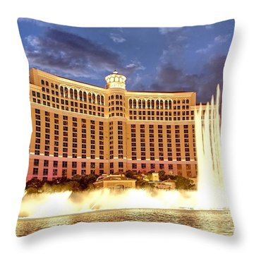 Bellagio Las Vegas Throw Pillow