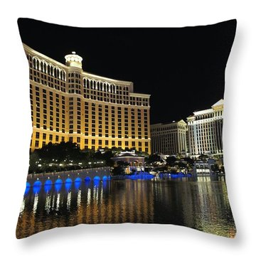 Bellagio Nights 2 Throw Pillow by Jenny Hudson