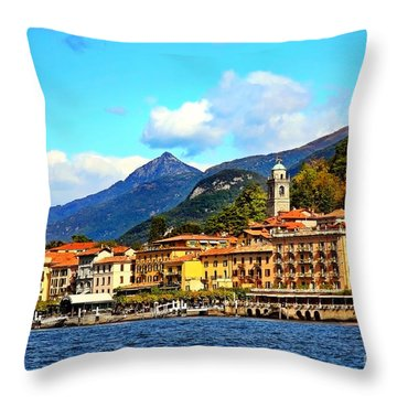 Bellagio On Lake Como Throw Pillow
