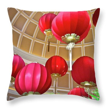 Bellagio Rotunda - Las Vegas Throw Pillow