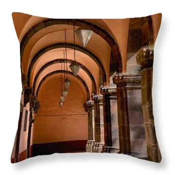 Throw Pillow featuring the photograph Bellas Artes San Miguel De Allende by Nicola Fiscarelli