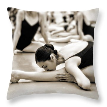 Belle Ballerina Throw Pillow by Bill Howard