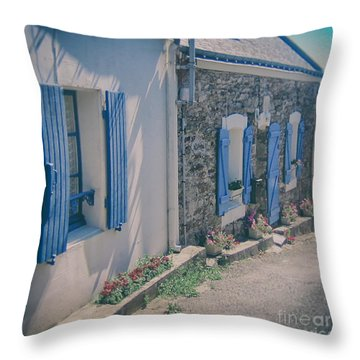 Belle-ille Street Throw Pillow