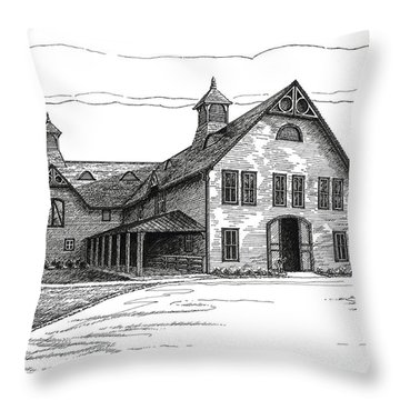 Belle Meade Plantation Carriage House Throw Pillow