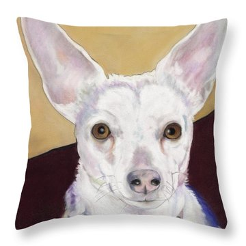 Belle Throw Pillow by Pat Saunders-White
