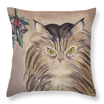 Belle With Silver Bells Throw Pillow