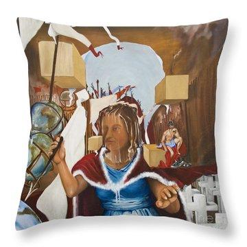 Bellona Goddess Of War Sister Of Mars Throw Pillow