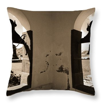 Bells Throw Pillow by Gaspar Avila