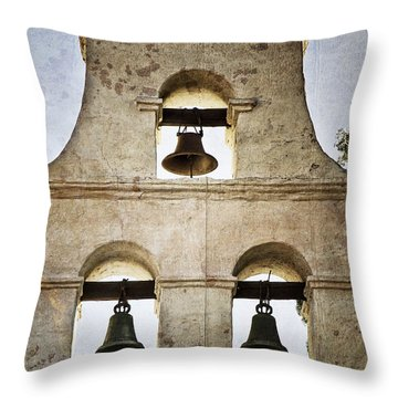 Bells Of Mission San Diego Throw Pillow