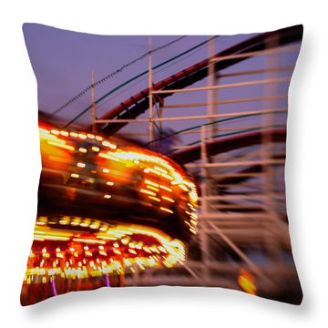 Did I Dream It Belmont Park Rollercoaster Throw Pillow