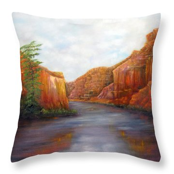 Below The Rim Throw Pillow by Loretta Luglio