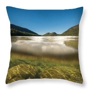 Above And Below Throw Pillows