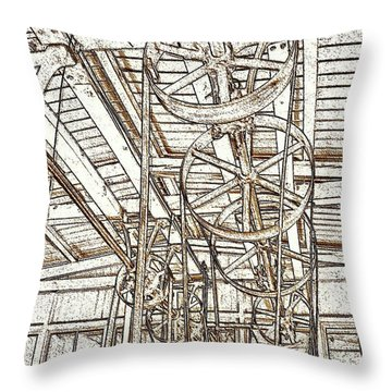 Belt Drive Dm  Throw Pillow