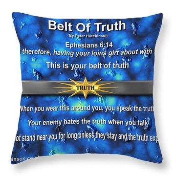 Belt Of Truth Throw Pillow