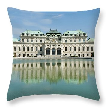 Throw Pillow featuring the photograph Belvedere Palace by Jeremy Voisey