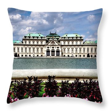 Throw Pillow featuring the photograph Belvedere Palace by Joe  Ng