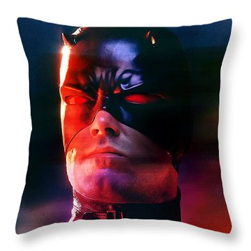 Ben Affleck Daredevil Throw Pillow by Marvin Blaine
