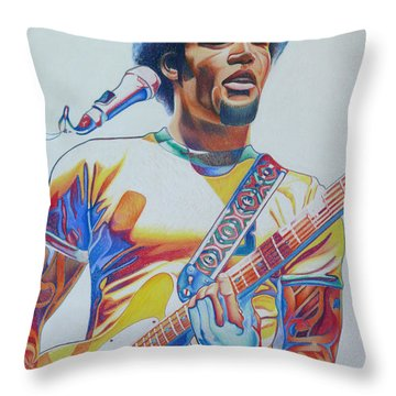 Ben Harper Throw Pillow by Joshua Morton
