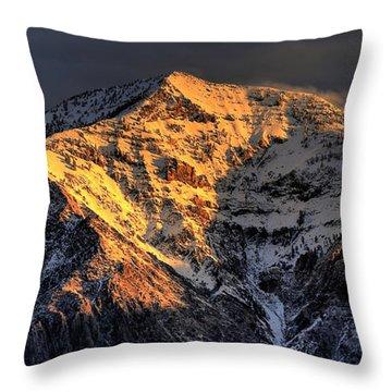 Ben Lomond Sunrise Throw Pillow