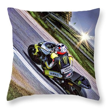 Ben Spies At Indy Throw Pillow
