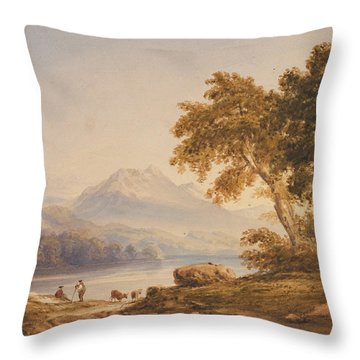 Ben Vorlich And Loch Lomond Throw Pillow by Anthony Vandyke Copley Fielding