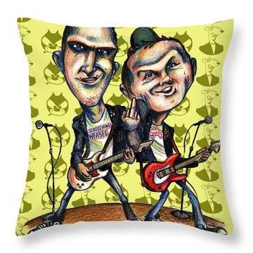 Ben Weasel And Joe Queer Throw Pillow