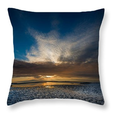 Benbecula Sunset Throw Pillow
