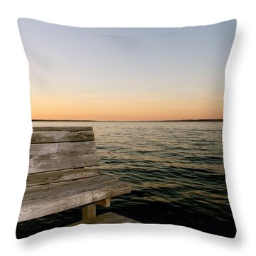 Bench And Deck In Light Throw Pillow