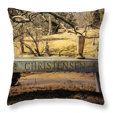 Bench At Spring Grove Throw Pillow