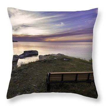 Bench In Paradise Throw Pillow