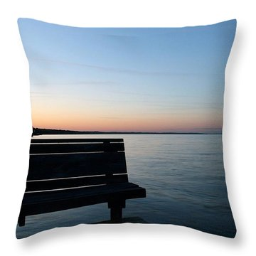 Bench In Silhouette Throw Pillow