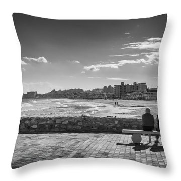 Throw Pillow featuring the photograph Bench Love by Gary Gillette