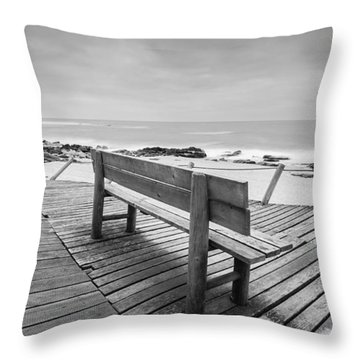 Bench With Swirl Throw Pillow