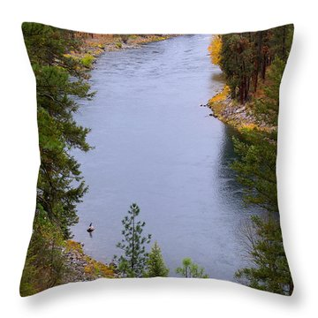 Throw Pillow featuring the photograph Bend In The River by Ben Upham III